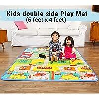 4square Kids Waterproof Double-Sided Foam Floor Play Mat (Multicolour, 120x180 Cm)