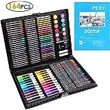 PEDY 164 PCS Crayon de Couleur Professionnel,Set de Dessin Enfant,48*Crayons de Couleur, 48*Pastels à L'huile,24*Marqueurs,24*Mini Crayons de Couleur,Cadeau Idéal pour enfants,Artiste,Adulte,Amateurs