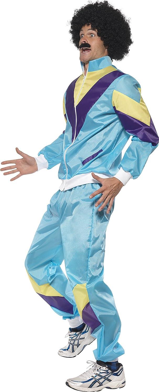 Smiffys Smiffys-39298M Disfraz de chándal años 80, con Chaqueta y ...