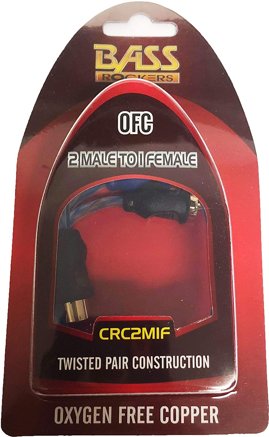 Bass Rockers RCA Y-Splitter Cable CRC2M1F 1 Female to 2 Male
