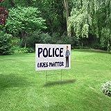 Plastic Weatherproof Yard Sign Policemen Police