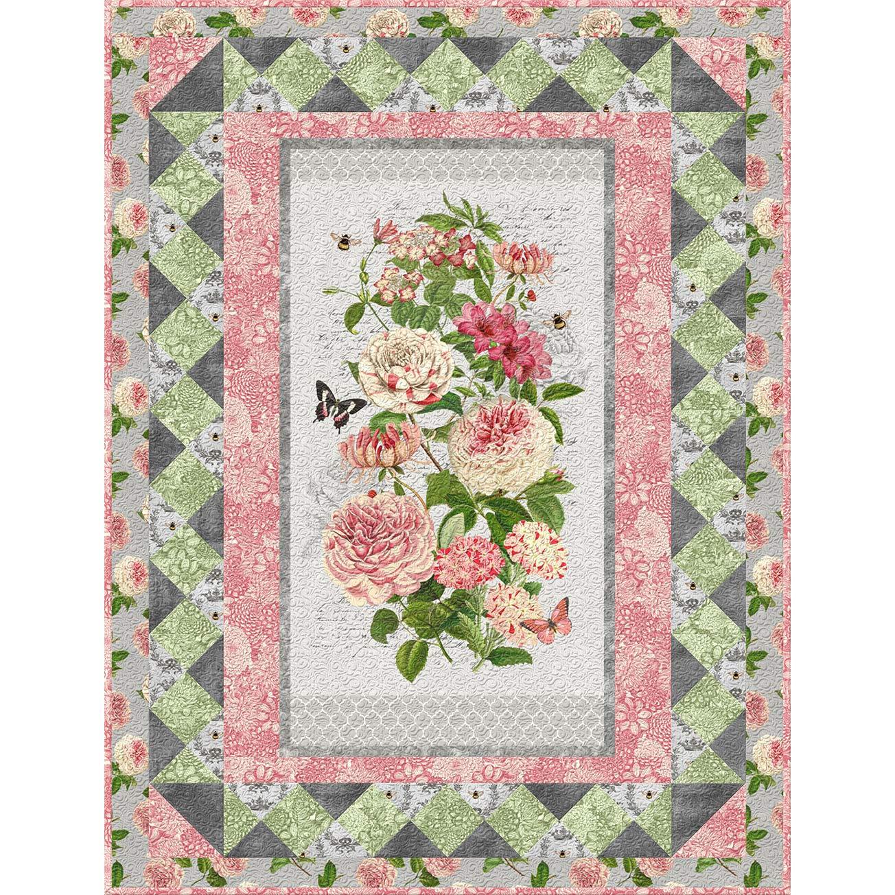 Wilmington Prints Le Bouquet ラティスウォールキルトキット B07RNDM9BS