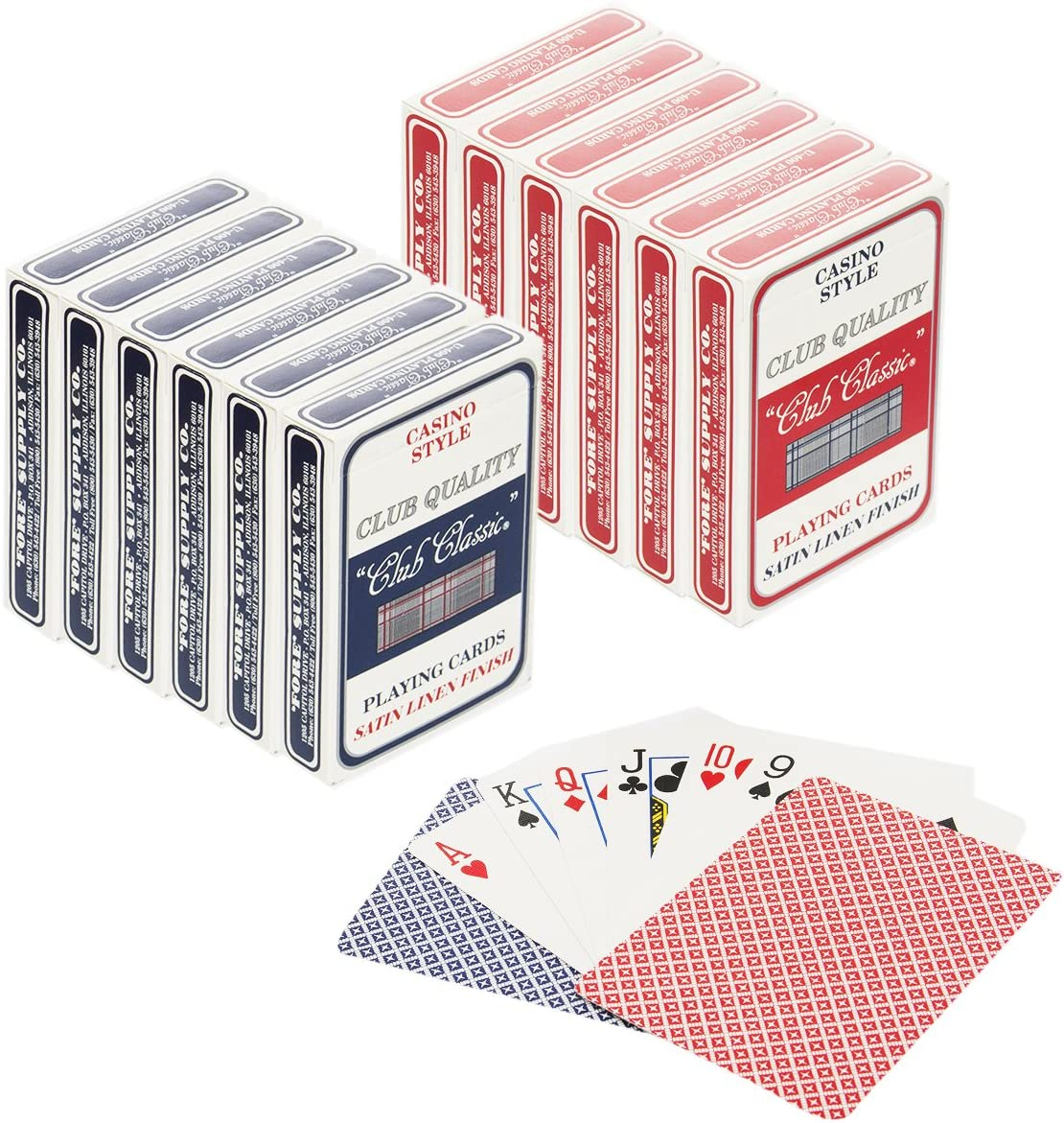 Set of 12 Playing Cards Bulk Plastic Casino Style Decks Professional Poker Games