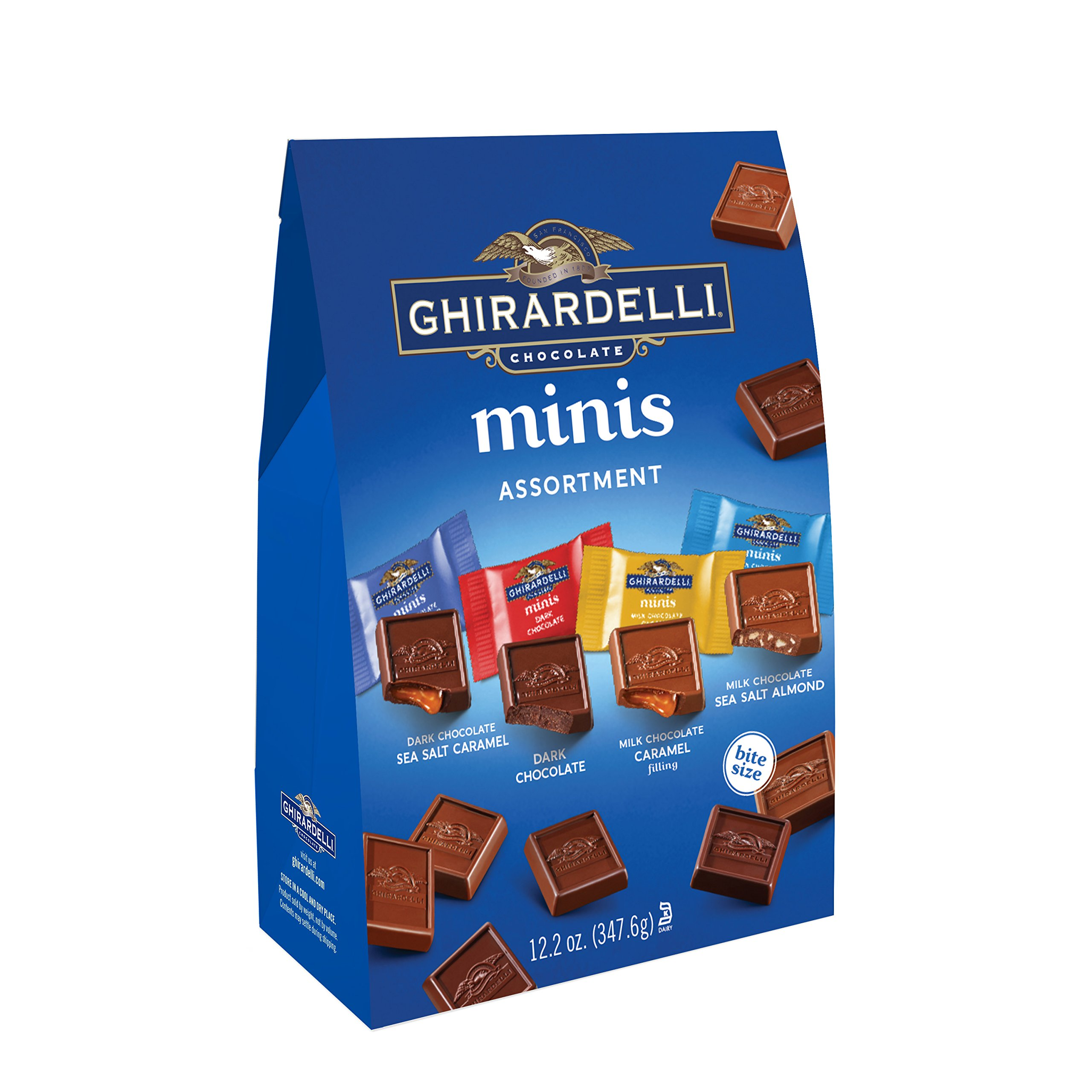 Ghirardelli Assorted Mini Squares Pouch, 12.2 Ounce, X-Large by Ghirardelli
