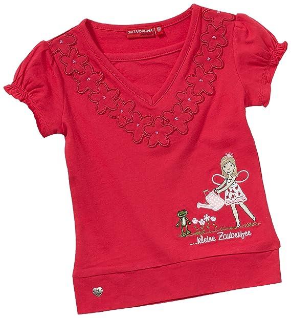 f6e761c83 Salt & Pepper Camiseta con cuello de pico para niña, talla 2 años (92