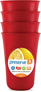 product image for Preserve Everyday 16 Ounce Cups, Set of 4, Pepper Red