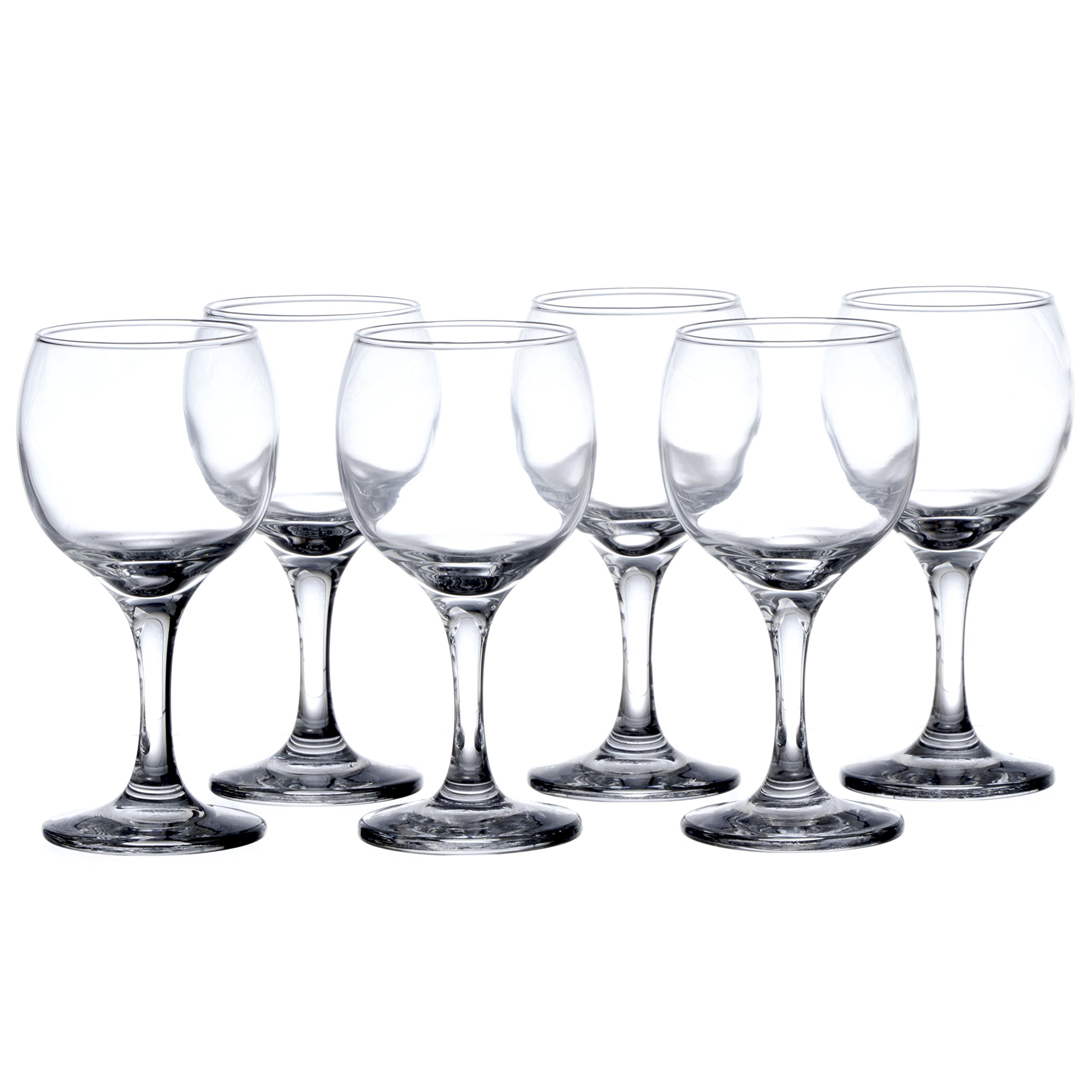 BISTRO 12-piece Wine Glasses Set (in 3 size), White, Red and Liquor Wine, Restaurant&Bar Quality, Durable Tempered Glass, Heavy Base, t.m. Pasabache (7 1/2 oz) by Pasabache (Image #3)