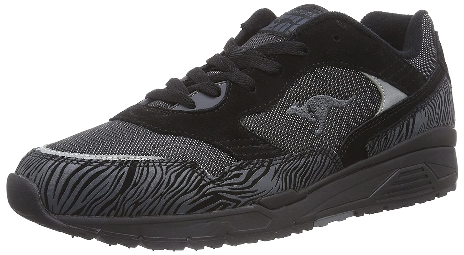 KangaROOS Ultimate All Black Herren Sneakers  41 EU|Schwarz (Black 500)