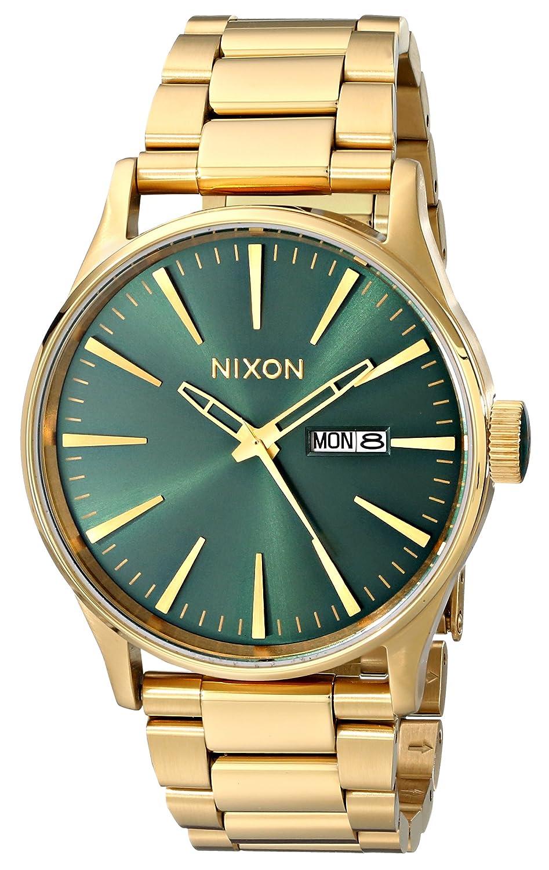 Nixon メンズ ブラック ステンレススチール 腕時計 A3561 Gold-Tone/Green Sunray B00J2HXZUE Gold-Tone/Green Sunray Gold-Tone/Green Sunray