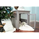 New Age Pet ECOFLEX Dog Crate End Table with Spindles; Grey Small, EHHC405S-ROCKY