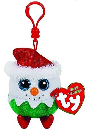 Ty Llavero Eggnog el muñeco de Nieve TY35109 Beanie Boos ...
