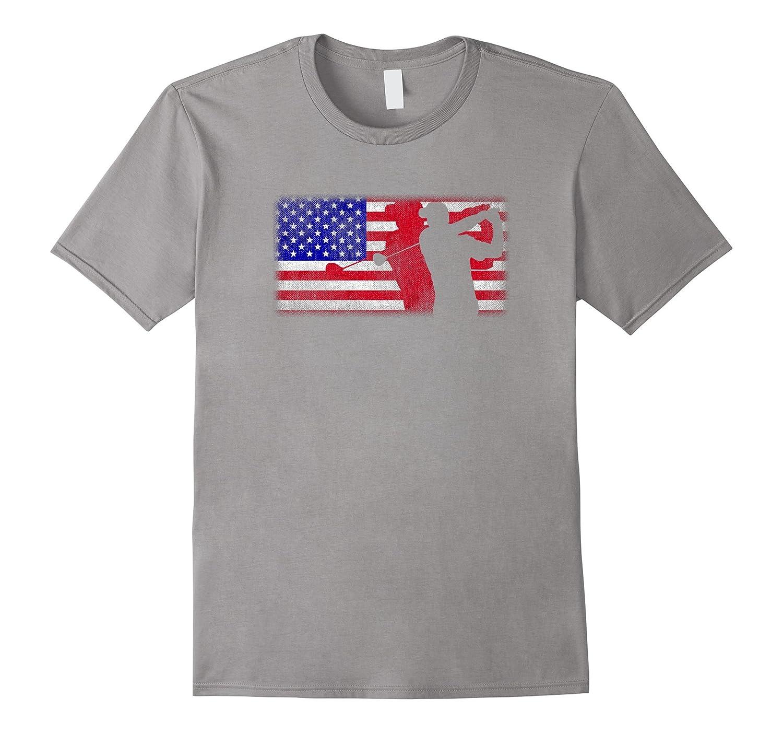 American Flag Golfer Patriotic USA Golf Dad Mom T Shirt