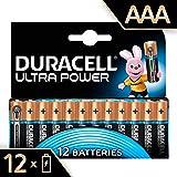 Duracell Ultra Power Piles Alcalines type AAA, Lot de 12 piles