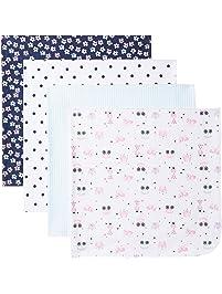 Gerber Baby Girls' 4 Pack Flannel Blanket