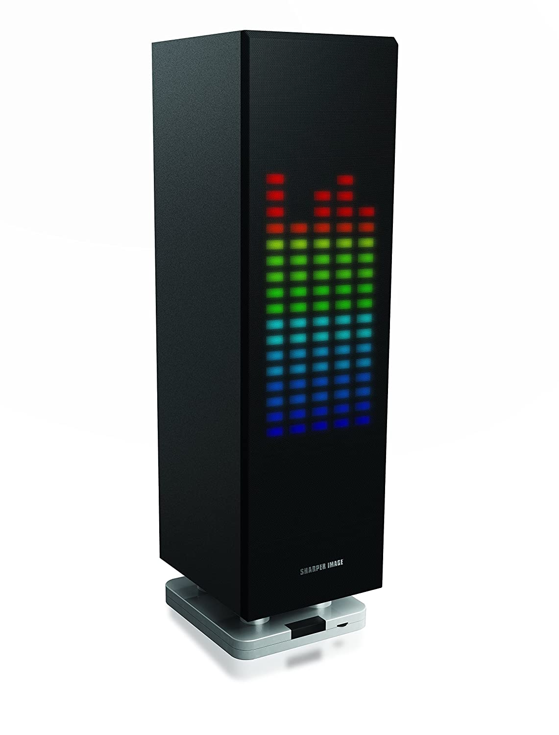 Amazon.com: Sharper Image SBT1003BK Bluetooth Speaker with Lights, Beat Responsive Sound System, Mini Tower, LED Light Show: Home Audio & Theater