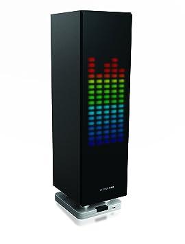 Sharper Image Sbt1003bk Bluetooth Speaker With Led Lights Beat