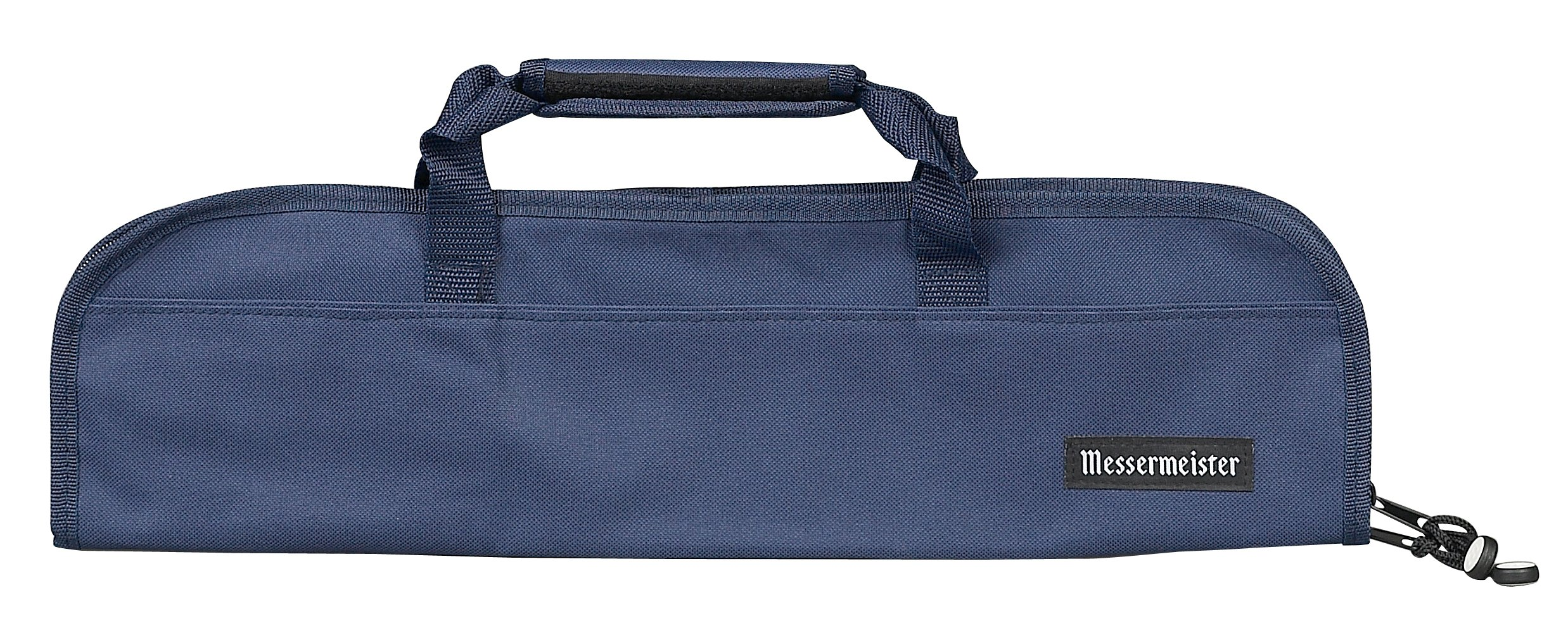 Messermeister 5-Pocket Heavy Duty Nylon Padded Knife Roll, Luggage Grade and Water Resistant, Navy
