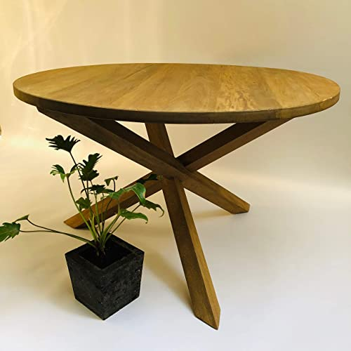 Mesa de comedor base matatena, en madera de rosamorada.