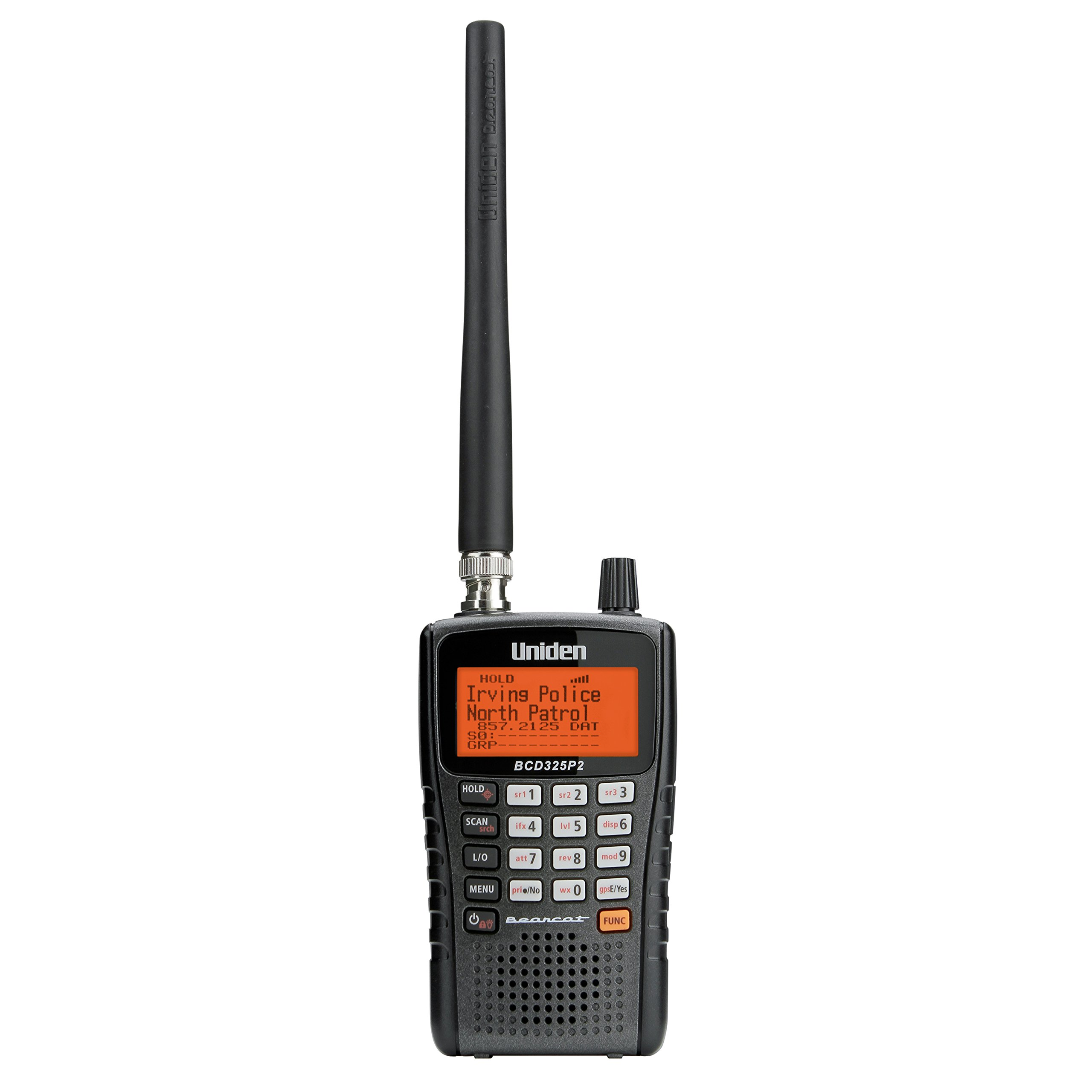 Uniden BCD325P2 Handheld TrunkTracker V Scanner. 25,000 Dynamically Allocated Channels. Close Call RF Capture Technology. Location-Based Scanning and S.A.M.E. Weather Alert. Compact Size. by Uniden