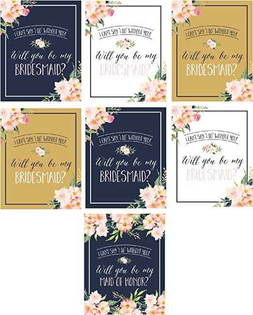 com will you be my bridesmaid stickers or wine bottle