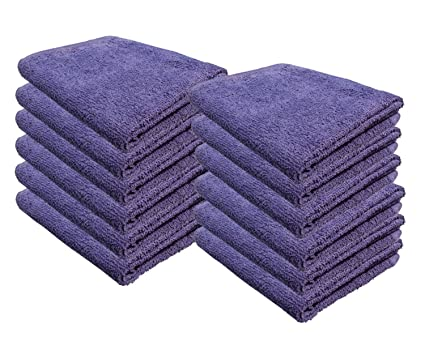 Cotton Bleach Guard Towels (12-Pack 16x26 inches) - Bleach Safe Gym Hand