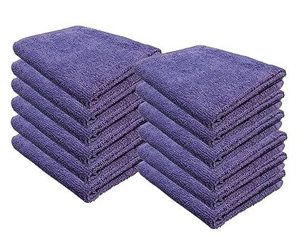 Cotton Bleach Guard Towels (12-Pack 16x26 inches) - Bleach Safe Gym Hand