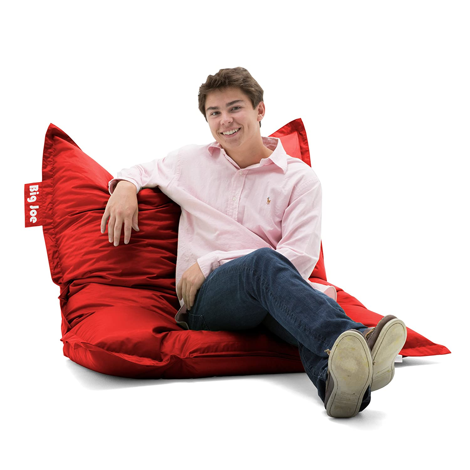 Amazon Big Joe Original Bean Bag Chair Flaming Red Kitchen Dining