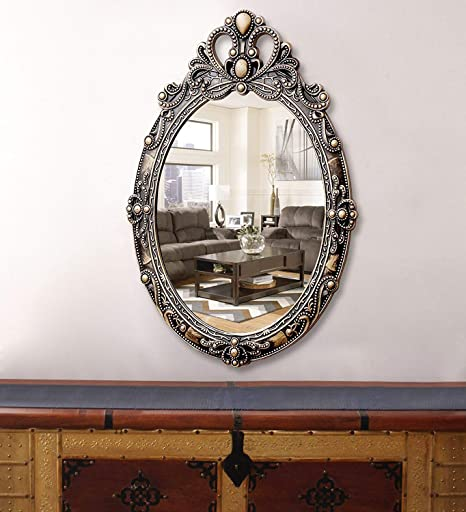 Buy Kurtzy Vintage Style Home Decorative Wooden Vanity Wall Mirror