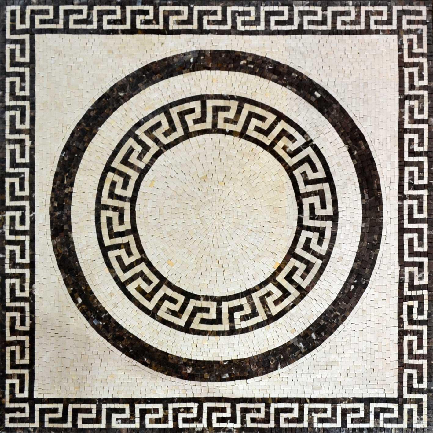 Greek Keys Patterns Mosaic Bathroom Floor Tile Rug Insert Marble