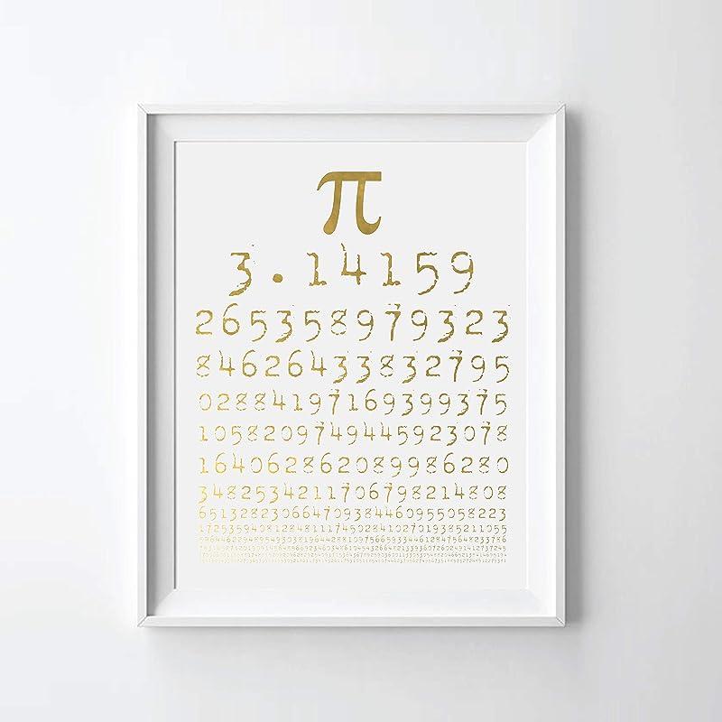 Pi Chart Gold Foil Art Print
