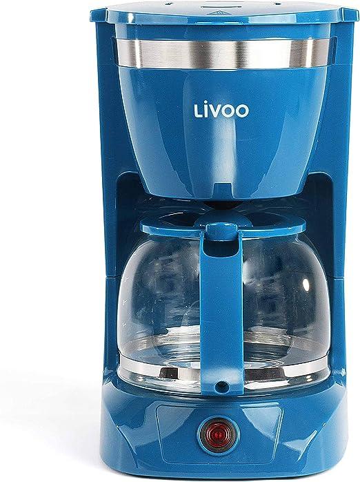 LIVOO - Cafetera eléctrica azul: Amazon.es: Hogar