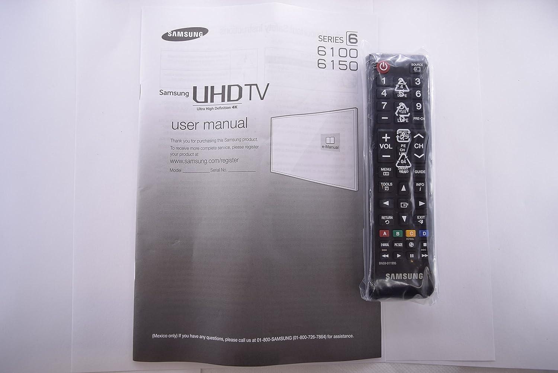 Samsung un40ju6100 F TV mando a distancia y manual de usuario ...