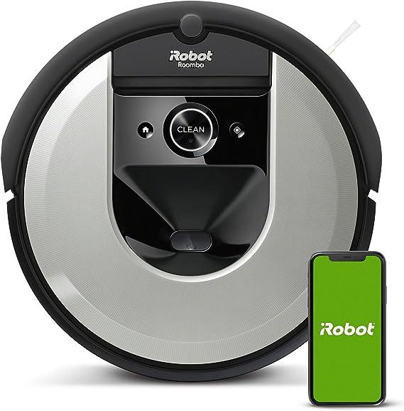 iRobot Roomba i7156 - Robot aspirador, Wifi, Aspiración de alta potencia y 2 cepillos de goma, óptimo para mascotas, memoriza y programa por habitación, limpia por objeto, sugerencias personalizadas: Amazon.es: Hogar