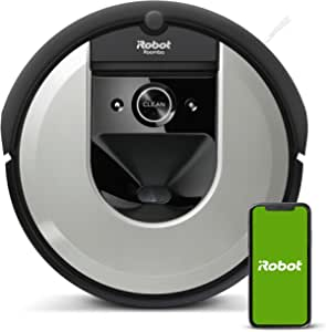 Robot aspirador iRobot Roomba i7156 Alta potencia, Para mascotas, Mapea y se adapta a tu hogar, Programa por habitación, Limpia por objeto, Sugerencias personalizadas, Compatible con asistentes voz