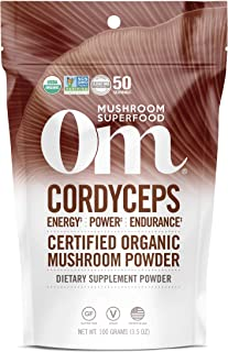 product image for Om Organic Mushroom Superfood Powder, Cordyceps, 3.5 Ounce (Pack of 1), Energy and Endurance Support Supplement