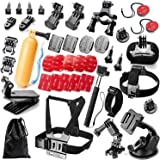 Robustrion 40 - in- 1 GoPro Hero 6/fusion/5/Session/4/3/2/HD/Hero &/SJCAM/SJ4000/SJ5000/SJ6000 Mounts Straps Accessory Kit For Outdoor & Adventure Sports