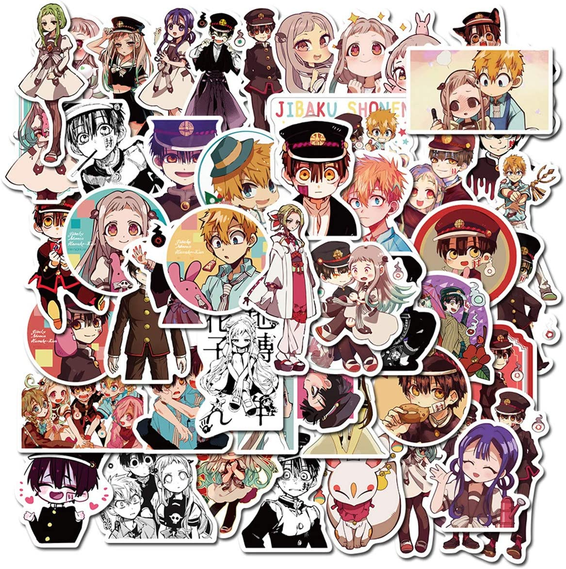 Amazon Com Anime Toilet Bound Hanako Kun Stickers 50 Pcs Funny Stickers For Teens Girls Adults Kids Stickers For Waterbottles Laptop Phone Hydro Flask Waterproof Vinyl Sticker Toilet Bound Hanako Kun Kitchen Dining