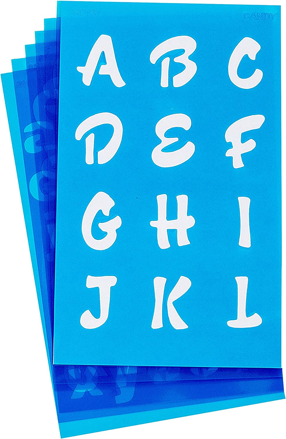 Westcott LetterCraft Stencil SC134//15840 Candy Font 3//4-Inch and 1-Inch Characters