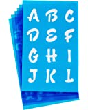 Westcott LetterCraft  Stencil, 3/4-Inch and 1-Inch Characters, Candy Font (SC134/15840)