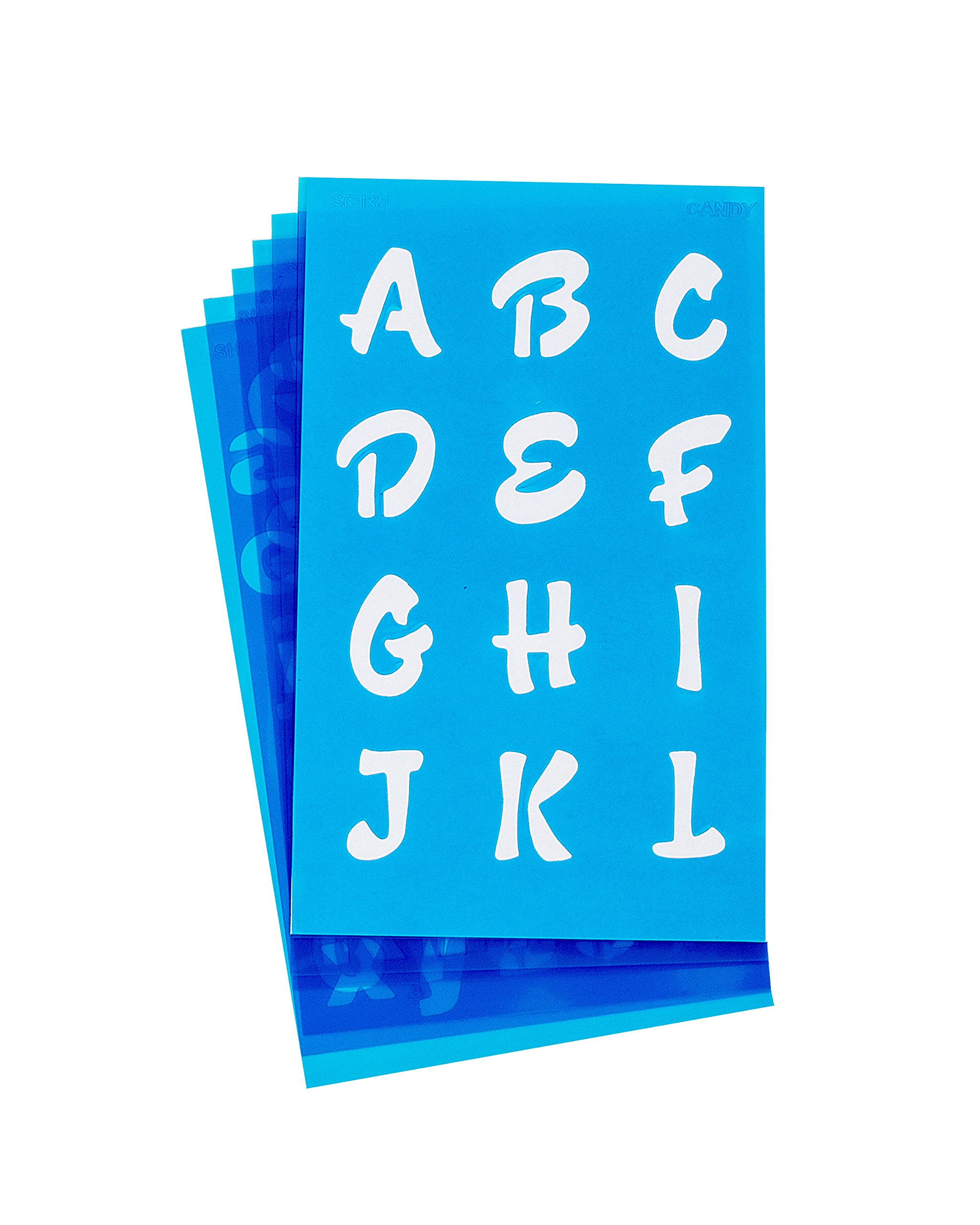 Westcott LetterCraft Stencil, Candy Font, 3/4-Inch and 1-Inch Characters (SC134/15840) by Westcott