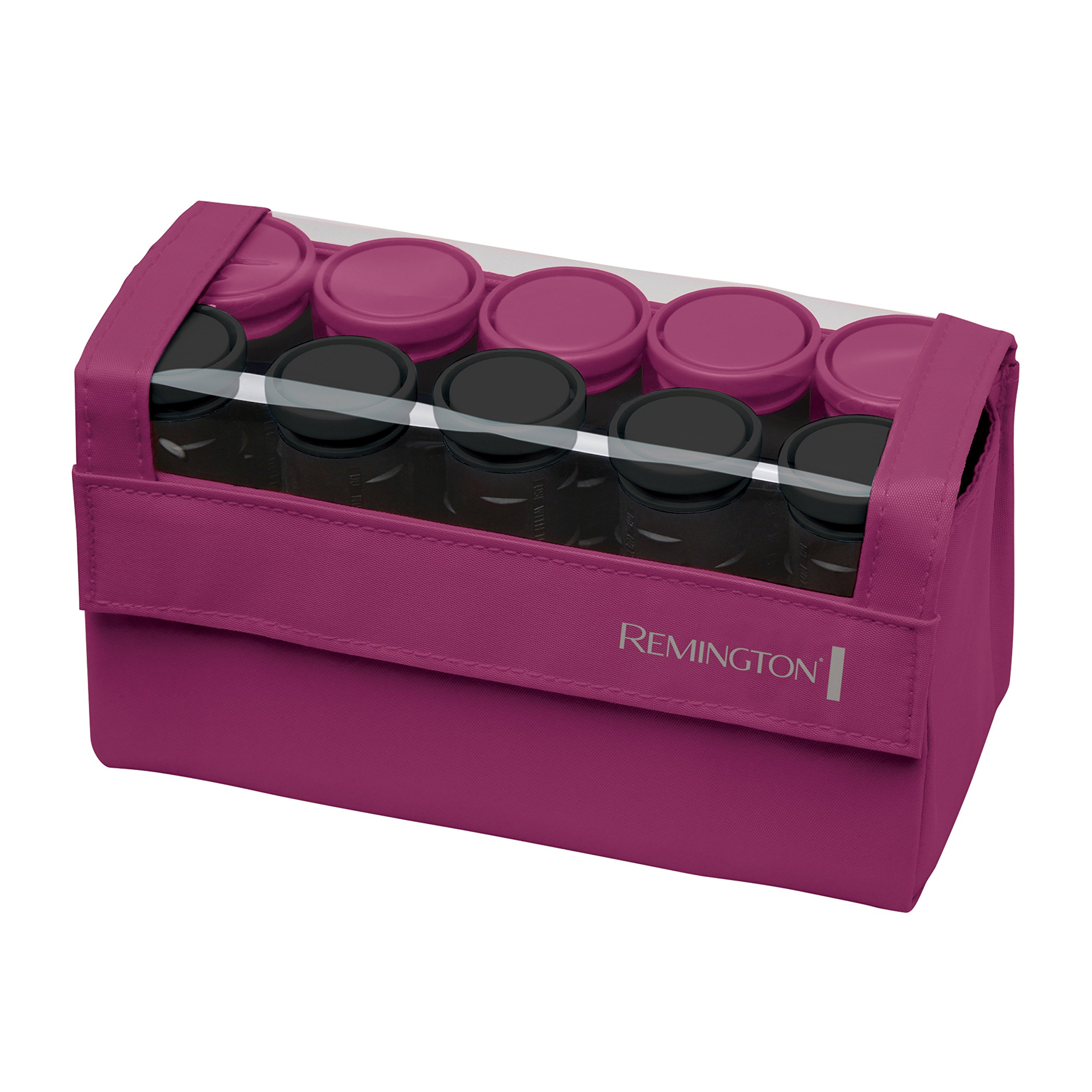 Remington H1015 Compact Ceramic Worldwide Voltage Hair Setter, Hair Rollers, 1-1 ¼ Inch, Pink by Remington