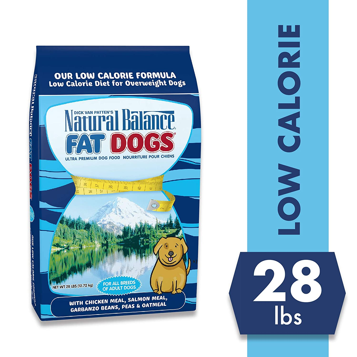 7. Natural Balance Fat Dogs Chicken & Salmon Formula Low Calorie Dry Dog Food