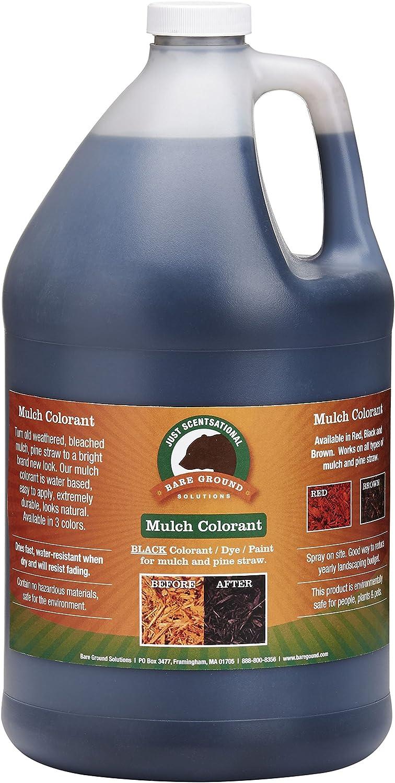 Just Scentsational Bare Ground Solutions MC-128BL Bark Mulch Colorant, 128 oz, Black
