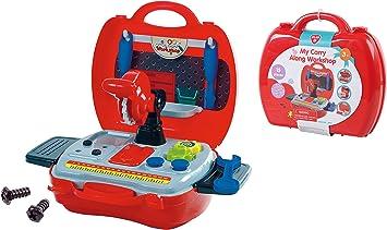PlayGo Caja de Herramientas Juguetes Niños 15pcs Construcción ...