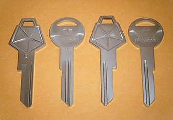 2 Plymouth GTX Key 1970 OEM NOS Original Key Blanks