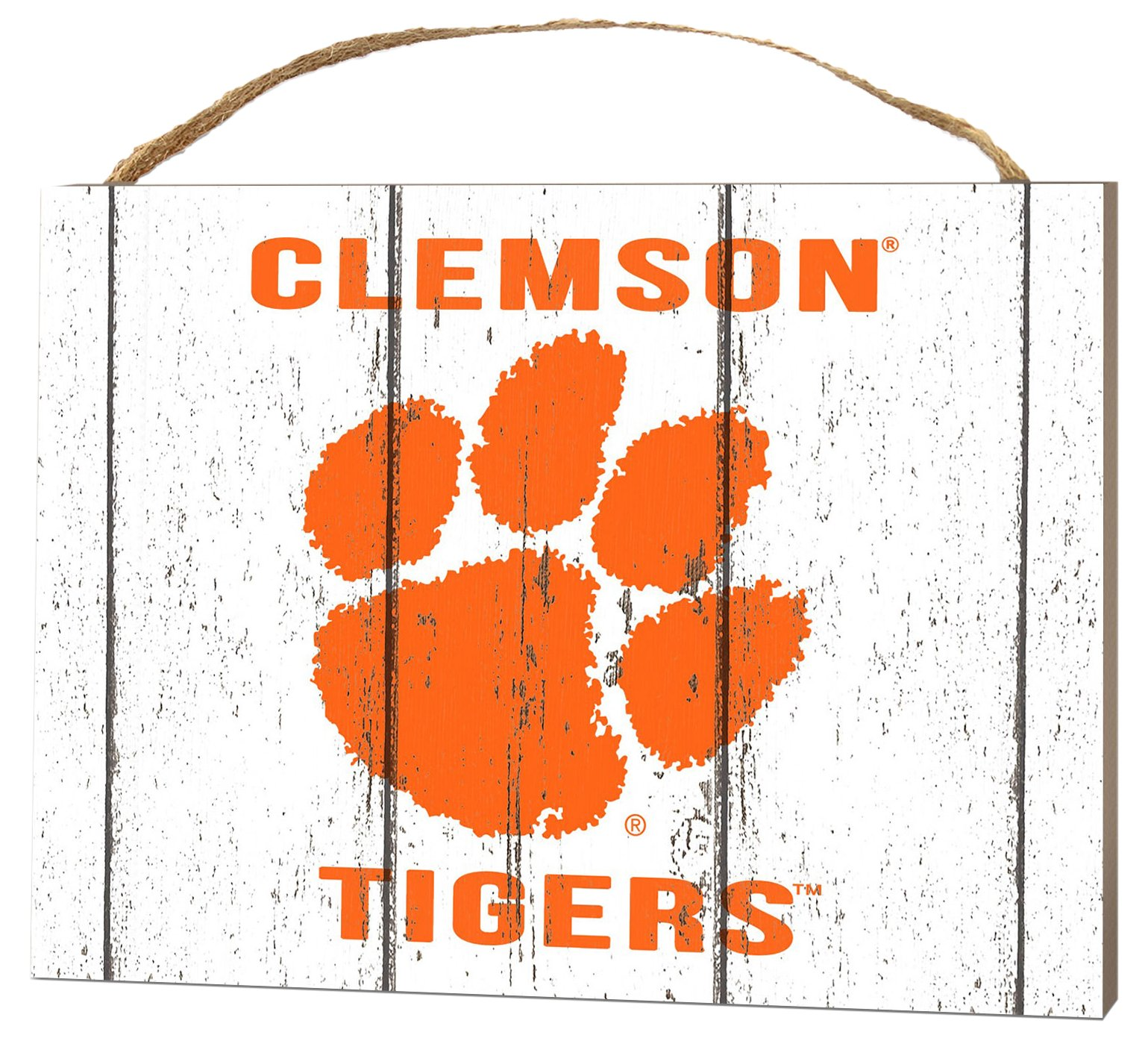 KH Sports Fan 4'' x 5.5'' Clemson Tigers Weathered Logo Small College Plaque