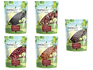 Organic Dried Berries in a Gift Box — A Variety Pack of Blueberries, Strawberries, Cranberries, Goldenberries, and Raisins