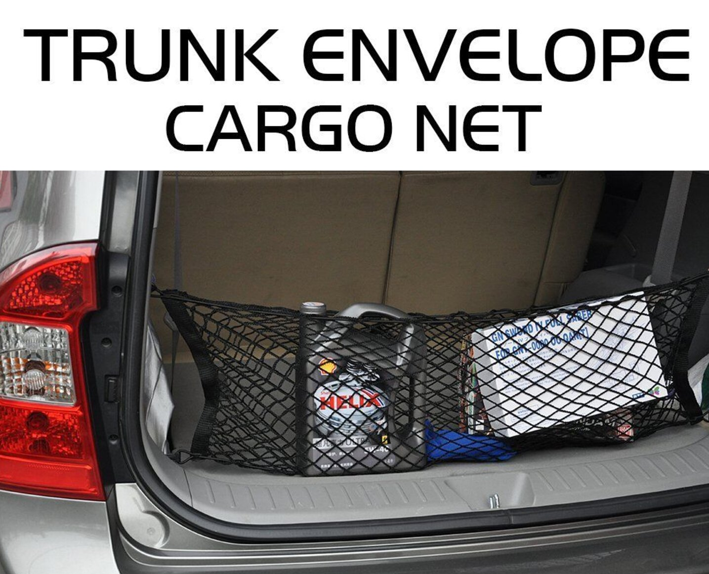 SUV Heavy Duty Cargo Net Stretchable Universal Adjustable Elastic Truck Net with Hooks Truck 9 MOON 4332990371 Storage Mesh Organizer Bungee for Car