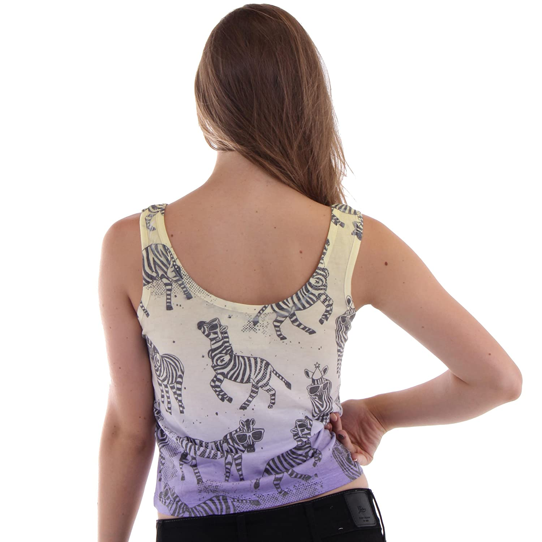 d56424e27518d Understar Women s Animal Print Tank T-Shirts 65% Tencel 30% Rayon%% Spandex  at Amazon Women s Clothing store