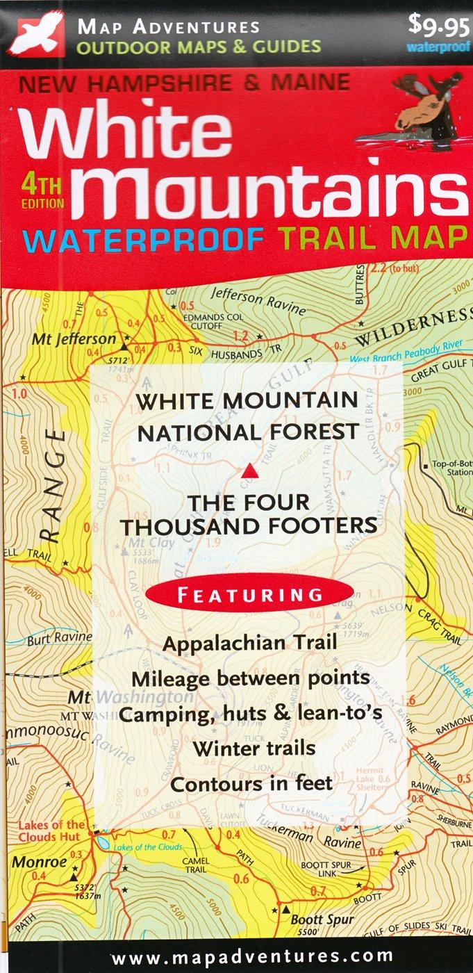 White Mountains Trail Map: New Hampshire & Maine: Steve Bushey ...